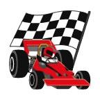 Red Racecar Temporary Tattoos