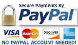 Easy payments with Paypal, no account needed!