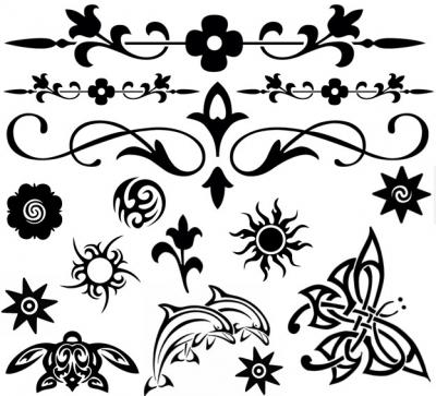 Black temporary tattoos sheet tattoos temporary for Black temporary tattoo