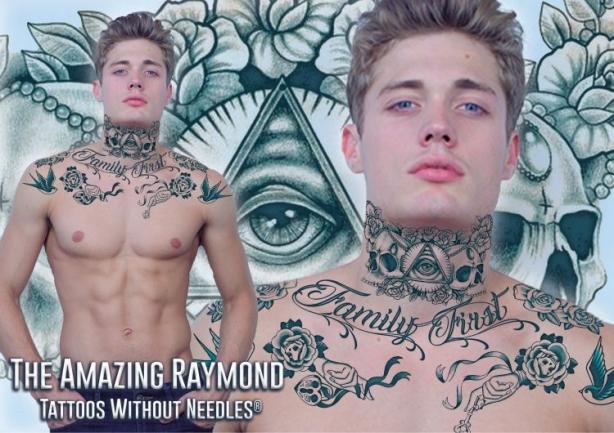 Gangsta Neck Temporary Tattoos | Sheet Tattoos | temporary tattoos ...